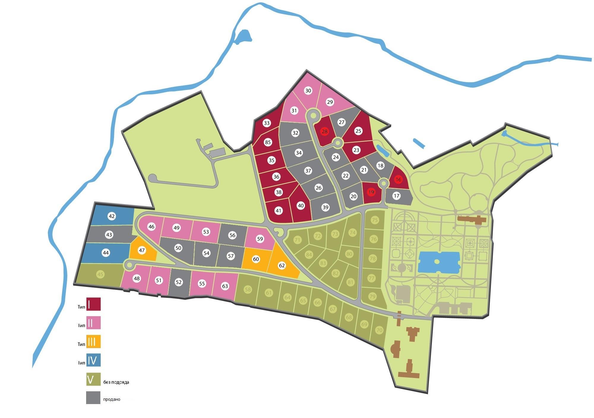 Генплан поселка Покровское-Рубцово