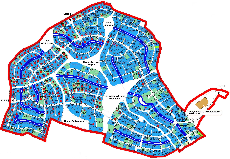 Генплан поселка Миллениум Парк