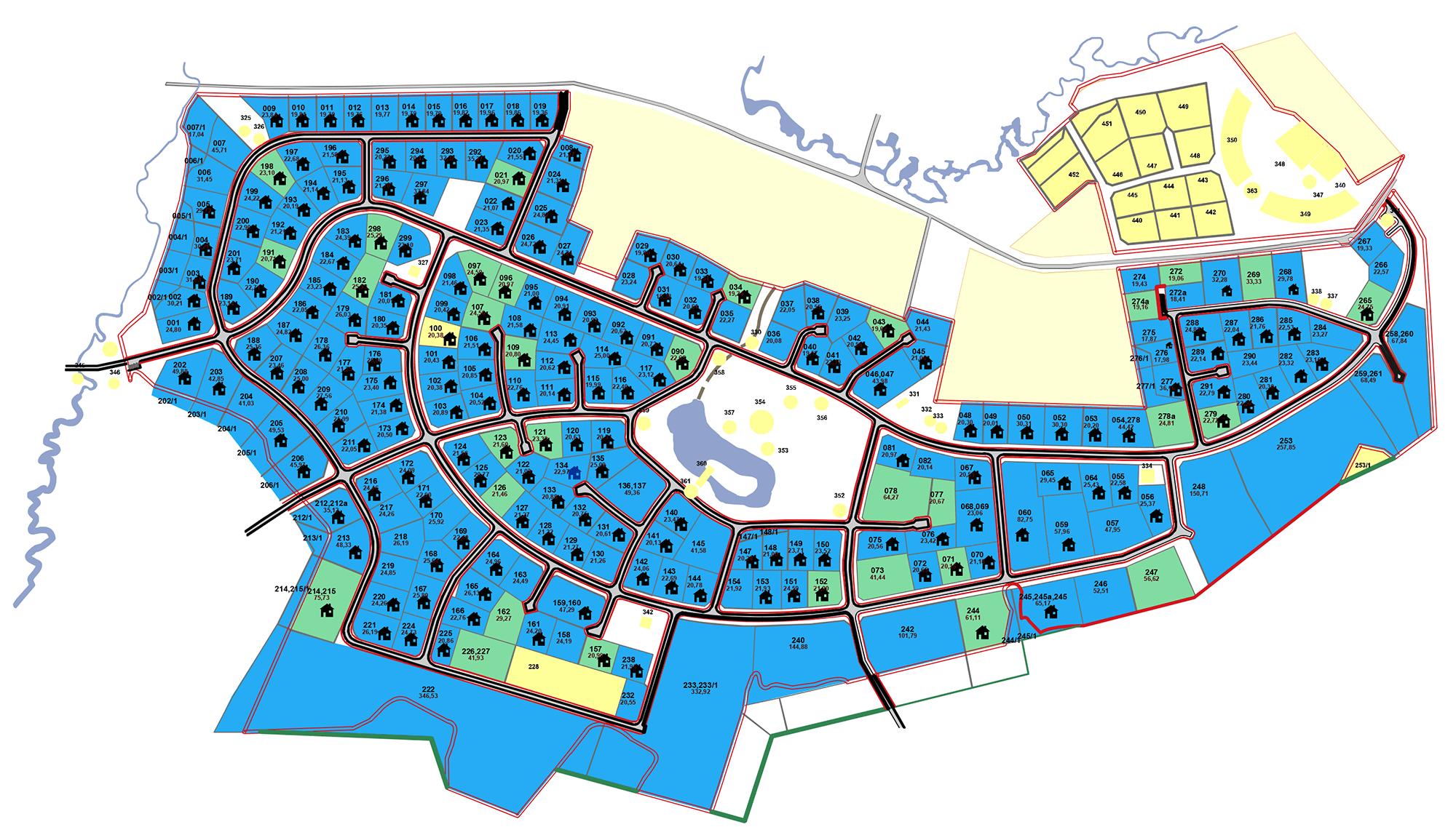 Генплан поселка Гринфилд