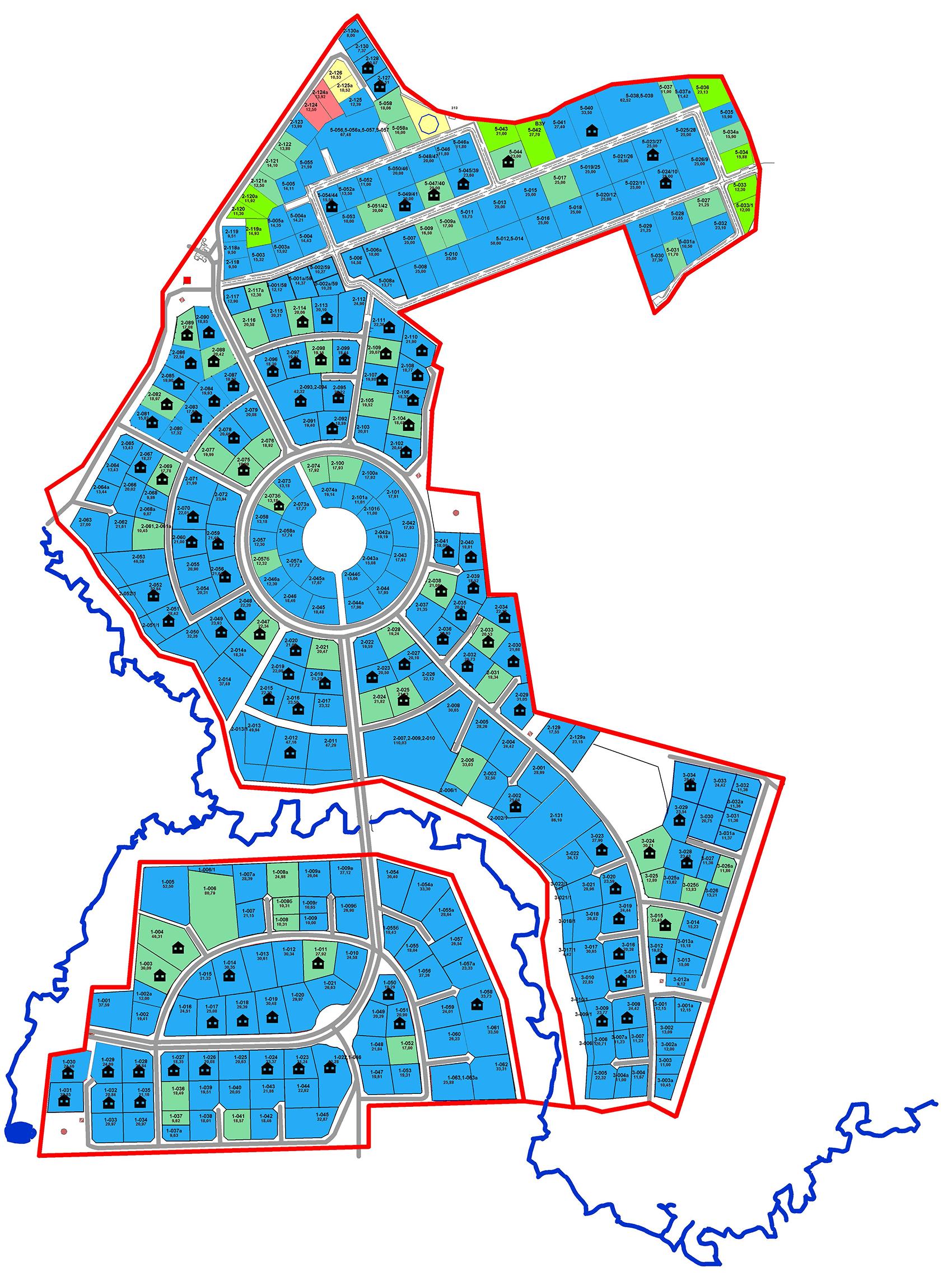 Генплан поселка Монтевиль