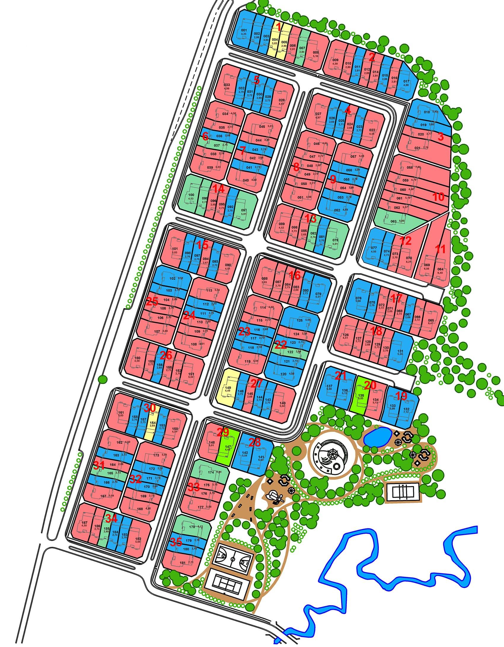 Генплан поселка Парк Авеню
