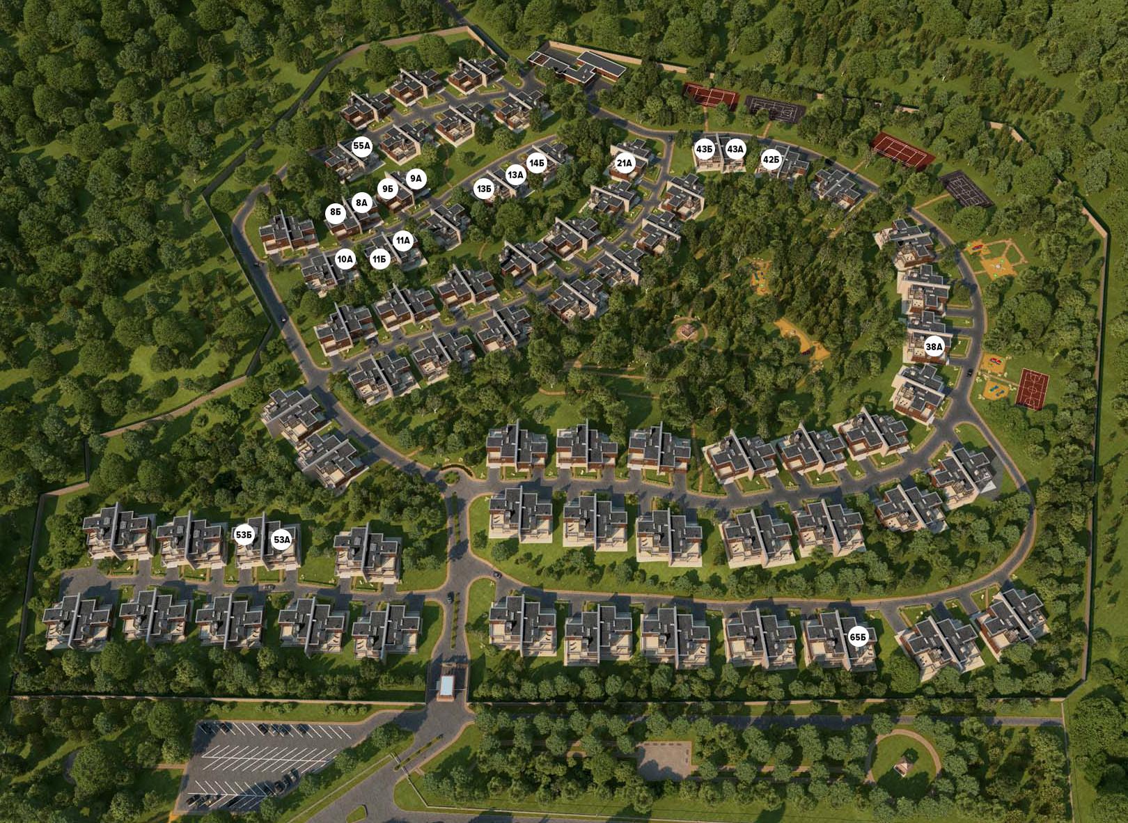 Генплан поселка