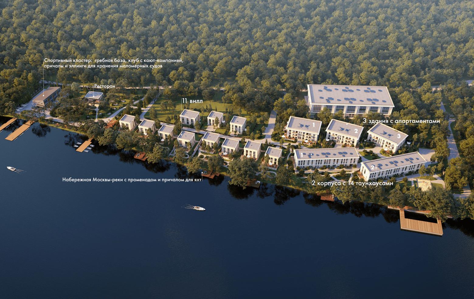 Генплан ЖК River Residences